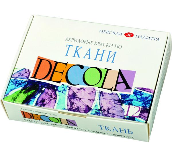 Купить Набор акриловых красок по ткани Decola 12 цв 20 мл, Россия