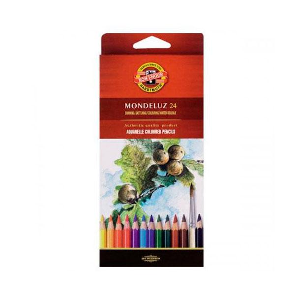 Купить Набор цветных карандашей акварельных Koh-I-Noor Mondeluz 24 цв в картон кор, KOH–I–NOOR, Чехия