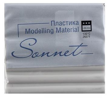 Купить Пластика для запекания Sonnet 56 г Серый светлый, Сонет, Россия