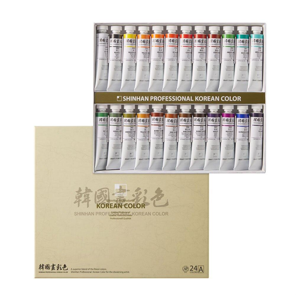 Купить Набор акварели ShinHanart Korean Color A 24 цв*20 мл, ShinHan Art International Inc., Южная Корея