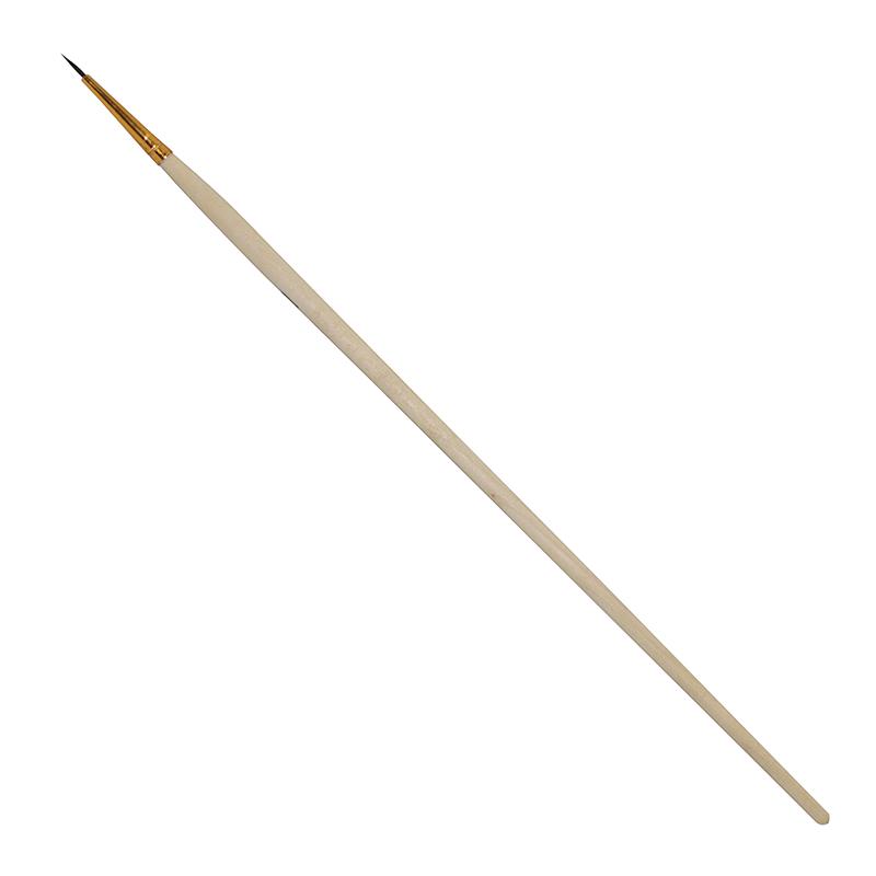 Купить Кисть белка №1 круглая Ворс длинная ручка, Россия