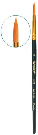 Купить Кисть синтетика №7 круглая Roubloff 1315 короткая ручка, матовая, Россия