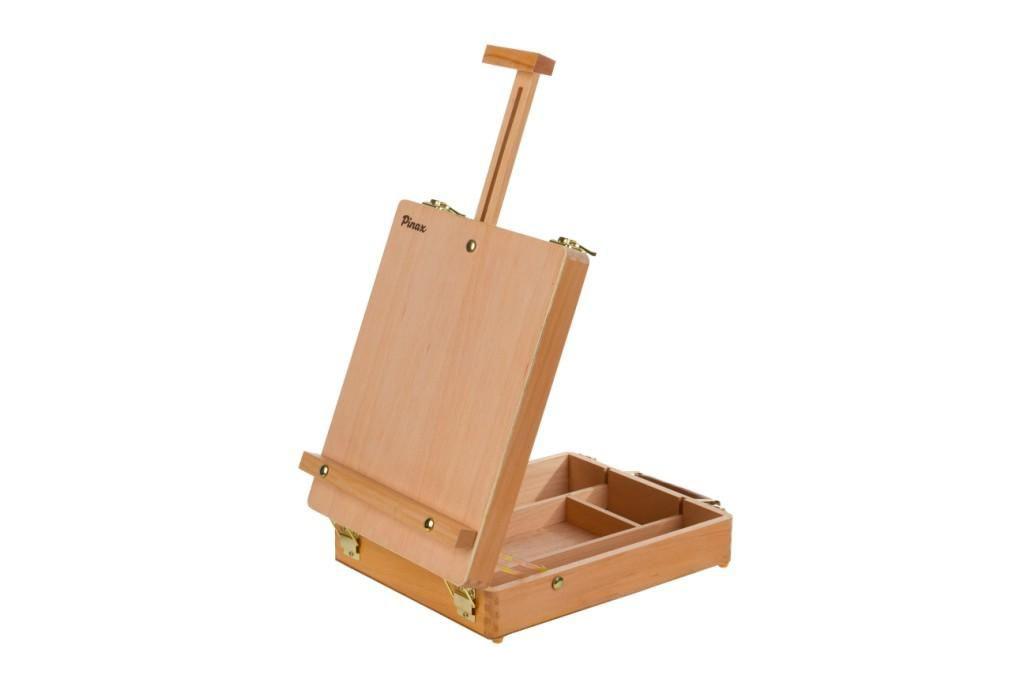 Купить Мольберт настольный Pinax TE-04B с ящиком для кистей и красок, бук, Китай
