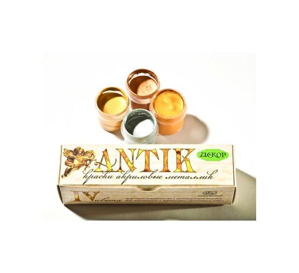 Купить Набор акрила Аква-Колор Антик 4 цв, Аква-колор, Россия