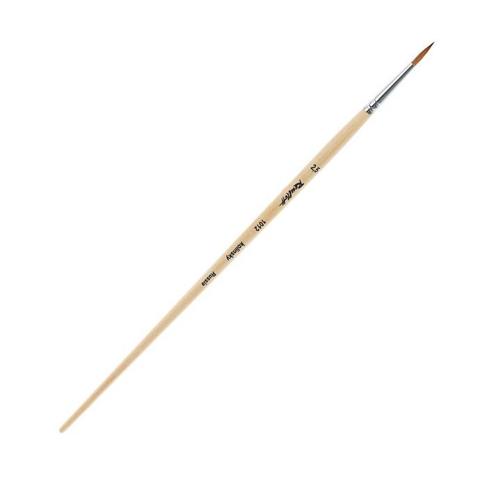 Купить Кисть колонок №2, 5 круглая Roubloff 1012 длинная ручка п/лак, Россия