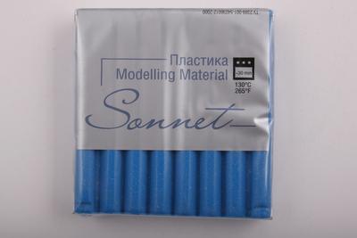 Купить Пластика для запекания Sonnet 56 г с блестками Синий, Сонет, Россия