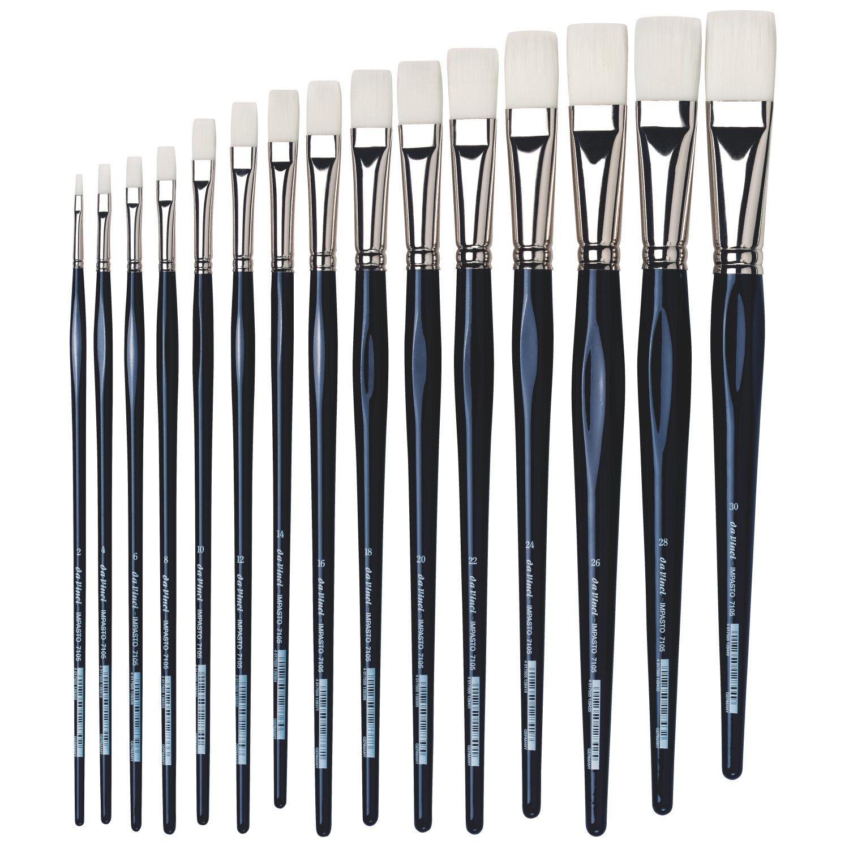Купить Кисть синтетика плоская Da Vinci 7105 Impasto длинная ручка, Германия