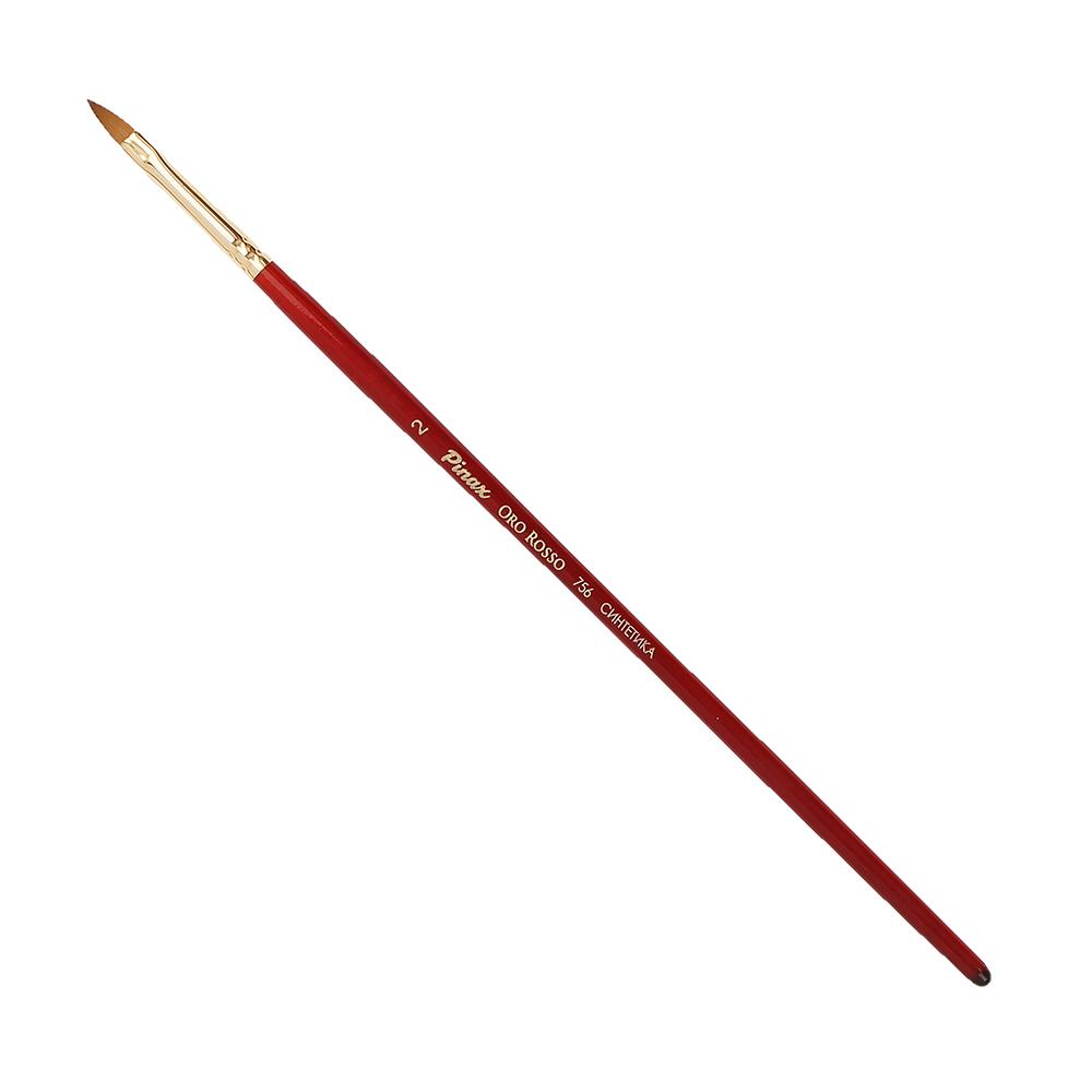 Купить Кисть синтетика №2 овальная язык Pinax Oro Rosso 756 короткая ручка, Китай
