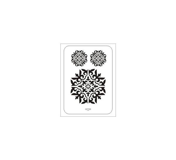 Купить Трафарет пластиковый многоразовый ЗХК 22*31 см Восточный орнамент №3, Невская Палитра, Россия