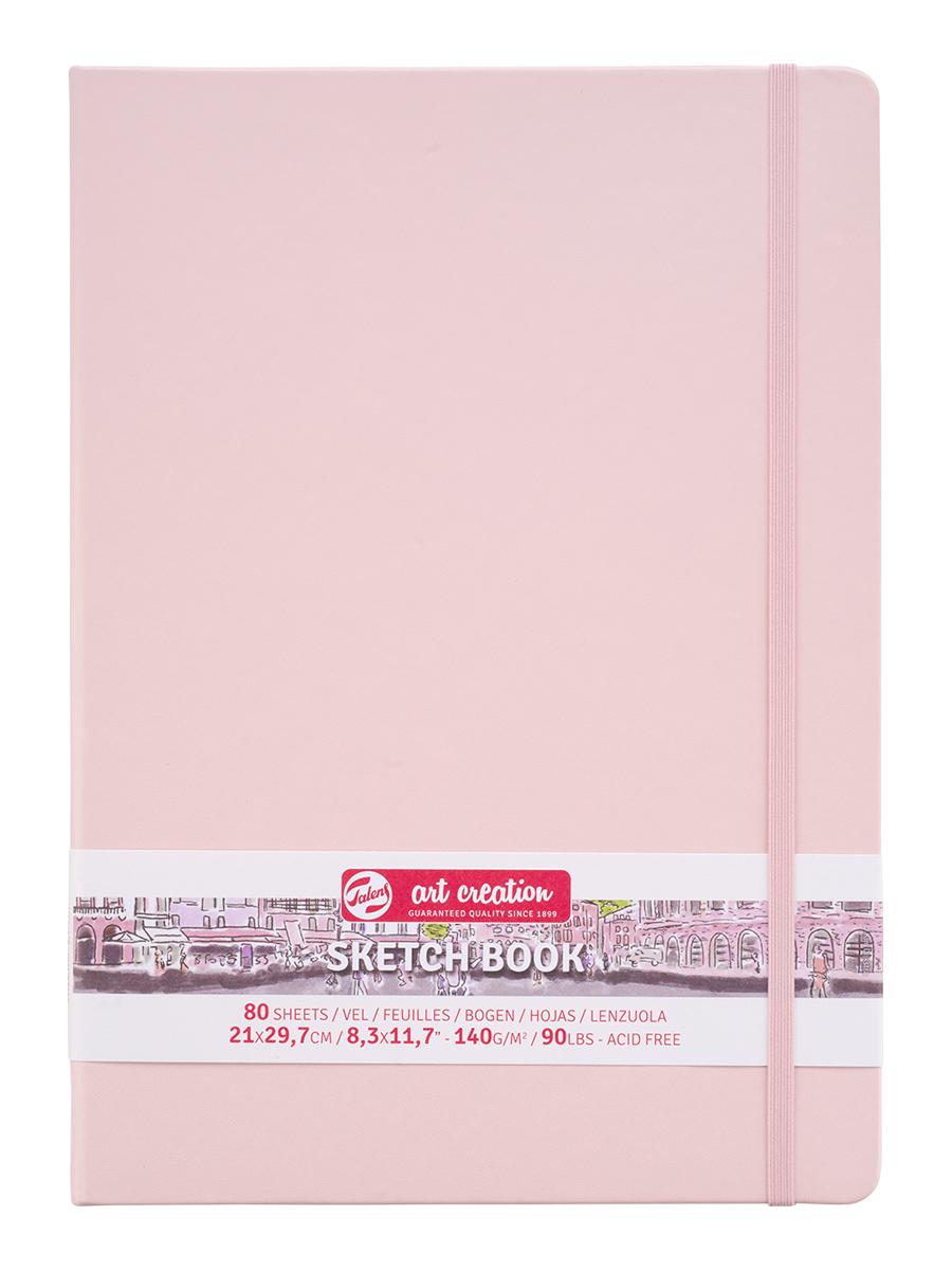 Купить Блокнот для зарисовок Art Creation 21х30 см 80 л 140 г, твердая обложка, розовый, Royal Talens