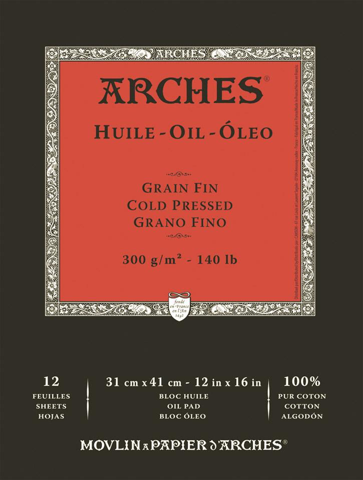 Купить Альбом-склейка для масла Canson Arches Huile 31х41см 12 л 300 г, Франция
