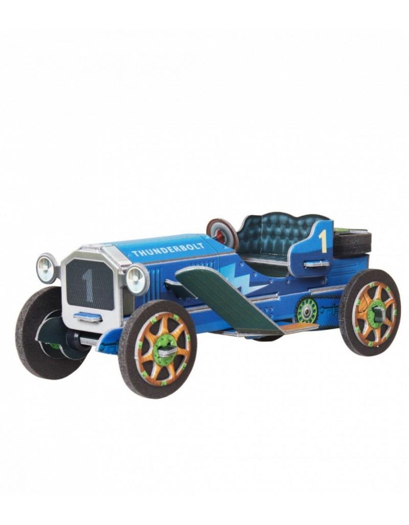 Купить Сборная модель из картона Машинка синяя, Умная бумага, Россия
