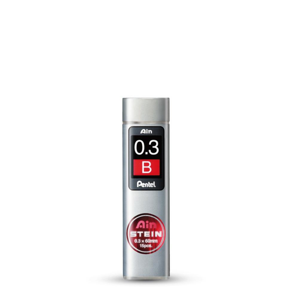 Купить Набор грифелей для механического карандаша Pentel Ain Stein 15 шт 0, 3 мм, B, Япония