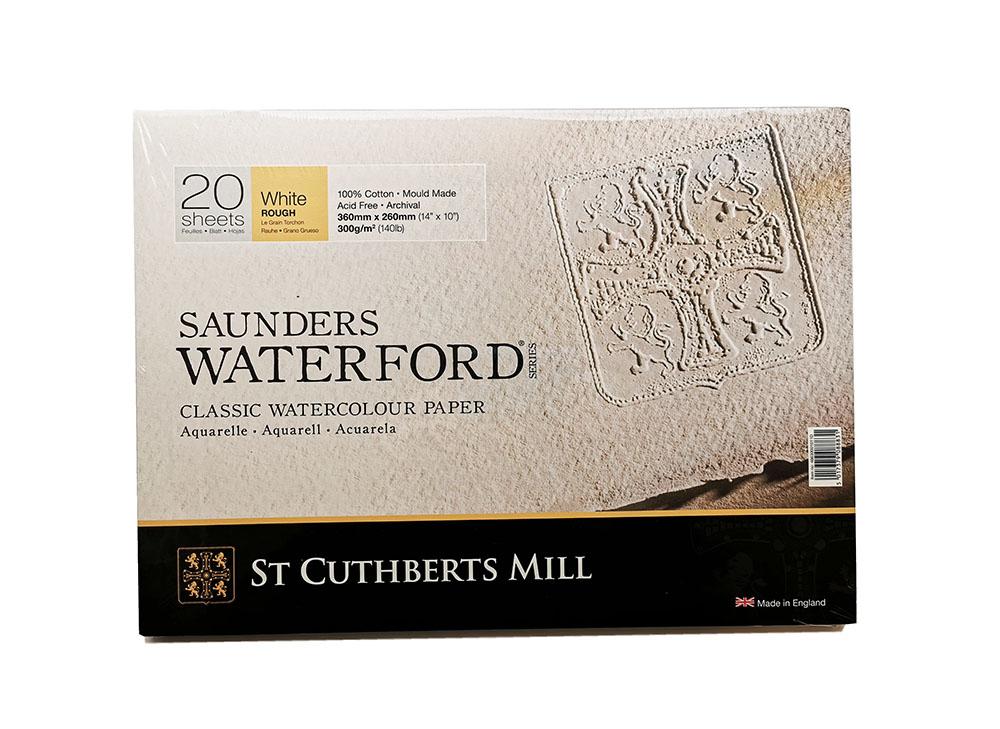 Купить Альбом-склейка для акварели Saunders Waterford Rough крупное зерно 36х26 см 20 л 300 г белый, St Cuthberts Mill, Великобритания
