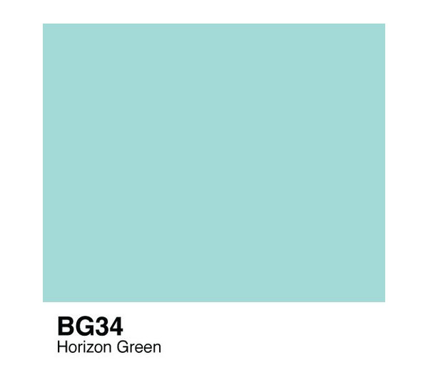 Купить Чернила COPIC BG34 (зеленый горизонт, horizon green), Copic Too (Izumiya Co Inc), Япония