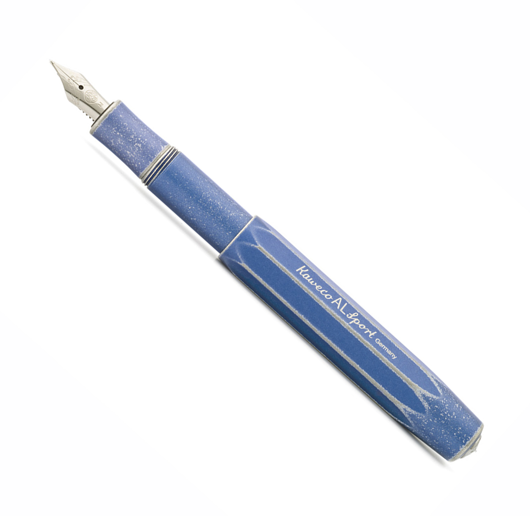 Купить Ручка перьевая Kaweco AL Sport Stonewashed F 0, 7 мм, корпус синий состаренный, Германия