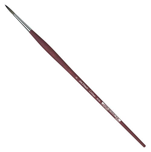Купить Кисть синтетика №6 круглая Da Vinci 8730 длинная ручка, Германия