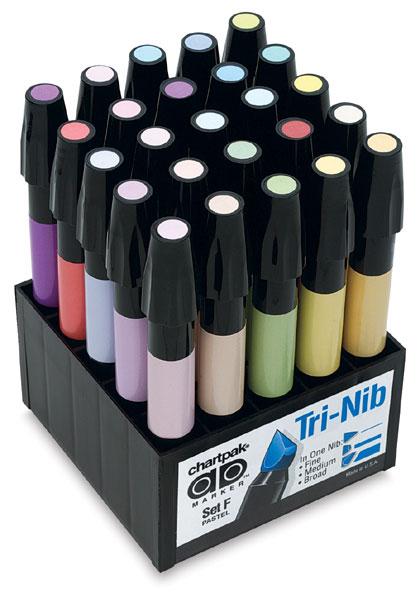 Купить Набор маркеров Chartpak 25 шт. пастельные тона, США