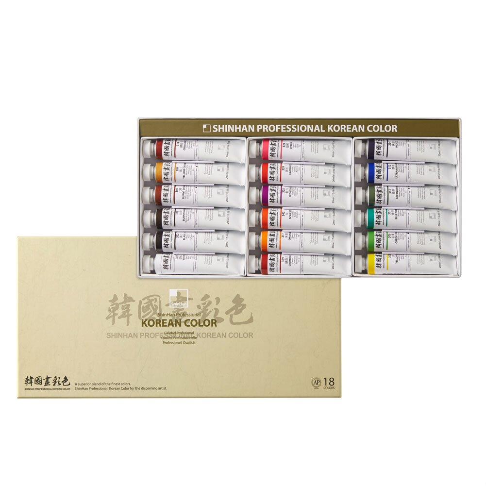 Купить Набор акварели ShinHanart Korean Color 18 цв*20 мл, ShinHan Art International Inc., Южная Корея