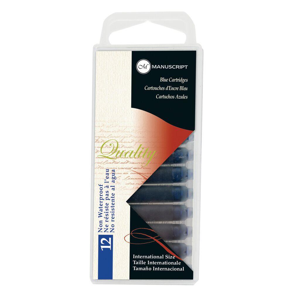 Купить Набор картриджей для перьевых ручек Manuscript Fountain Pen 12 шт, синий