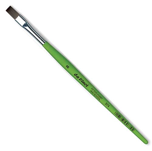 Купить Кисть синтетика №8 плоская Da Vinci 374 короткая ручка, Германия
