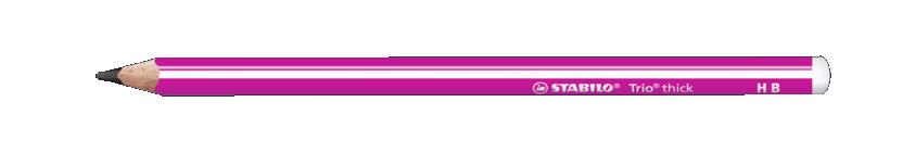Купить Карандаш чернографитный Stabilo Trio HB, корпус розовый, Германия