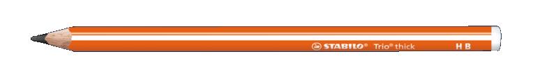 Купить Карандаш чернографитный Stabilo Trio HB, корпус оранжевый, Германия