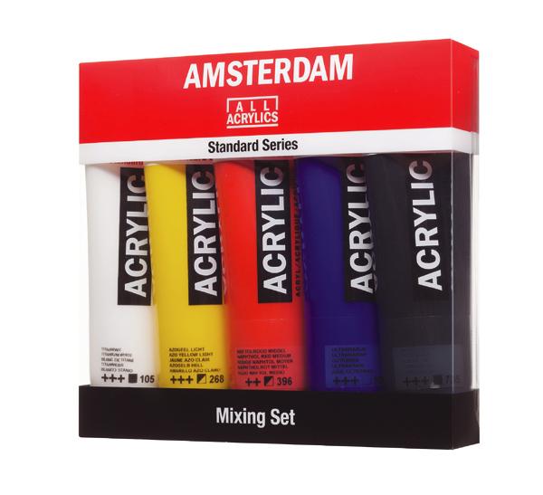 """Купить со скидкой Набор акрила Talens """"Amsterdam"""" 5 цв Mixing"""