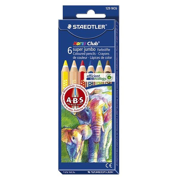 Купить Набор карандашей цветных Staedtler Noris Club Super Jumbo 6 цв, Германия
