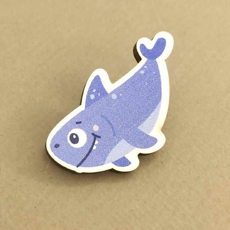 Купить Значок Blue shark, iLikeGift, Китай