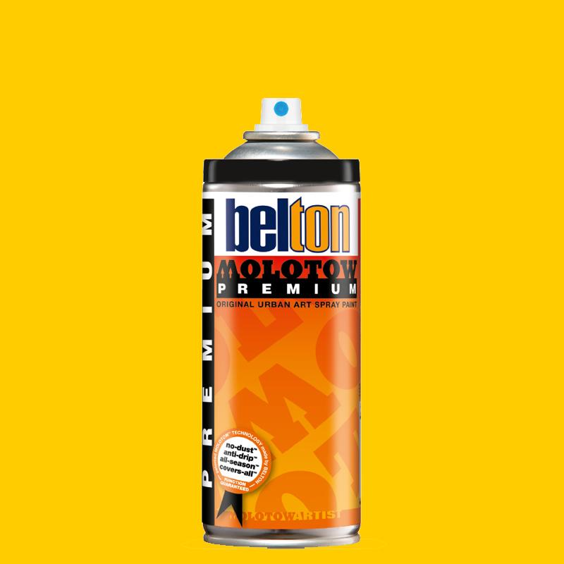 Купить Аэрозольная краска Molotow Premium belton 400 мл #004 signal yellow, Германия