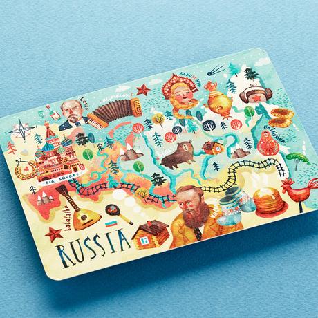 Купить Открытка Карта России , Подписные издания, Россия
