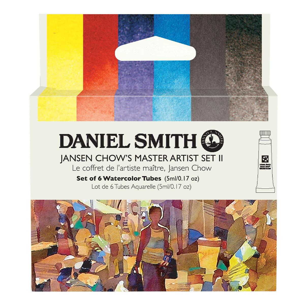 Купить Набор акварели Daniel Smith Jansen Chow's Master Artist Set II, в тубах 6 цв*5 мл, США