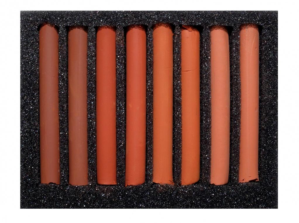 Купить Набор сухой пастели Аква-колор 8 цв Сангина, в картонной коробке, Россия
