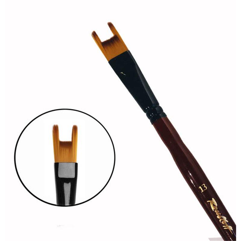 Купить Кисть синтетика №13 двузубец Roubloff 22RB короткая ручка, Россия