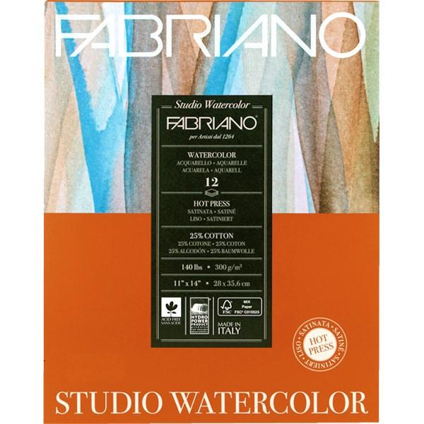 Купить Альбом-склейка для акварели Fabriano Watercolour Studio 28x35, 6 см 12 л 300 г, Италия