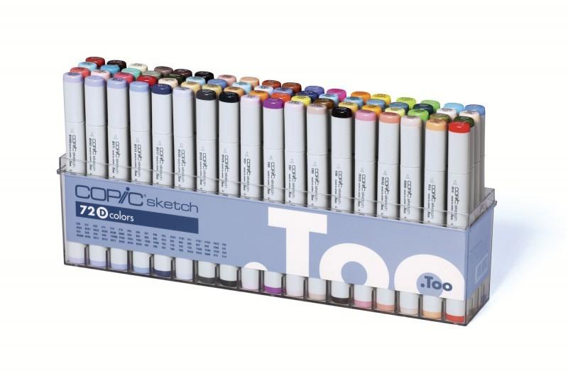 Купить Набор маркеров Copic Sketch D 72 цв, Copic Too (Izumiya Co Inc), Япония