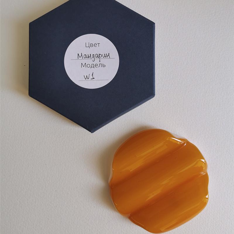 Купить Стеклянная подставка под инструменты, цвет Мандарин, Vasuri Glass, Россия