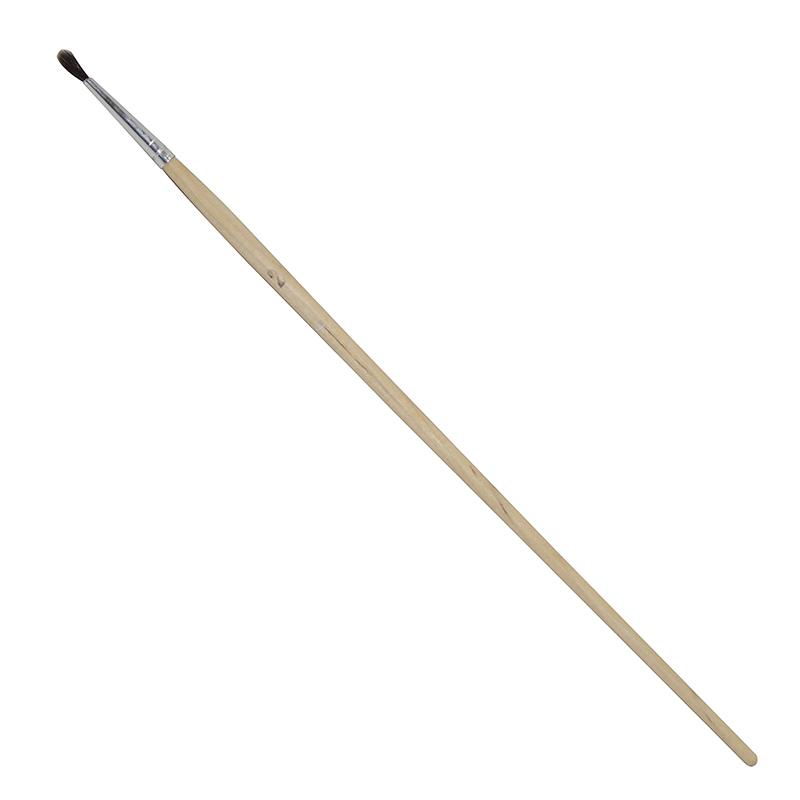 Купить Кисть белка №2 круглая Ворс длинная ручка, Россия