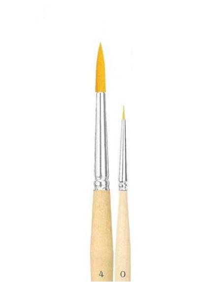 Купить Кисть синтетика №9 круглая Живописные кисти 1210 короткая ручка п/лак, Россия