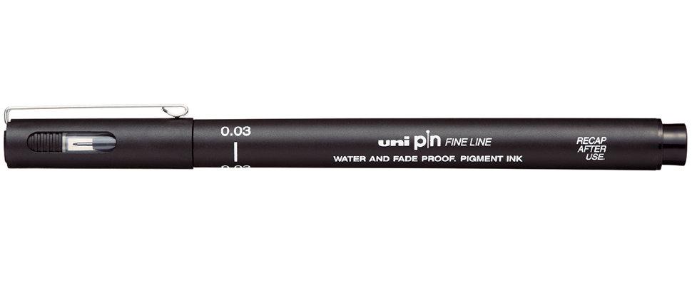 Купить Линер UNI PIN003-200 (S) 0, 03 мм, черный, Япония