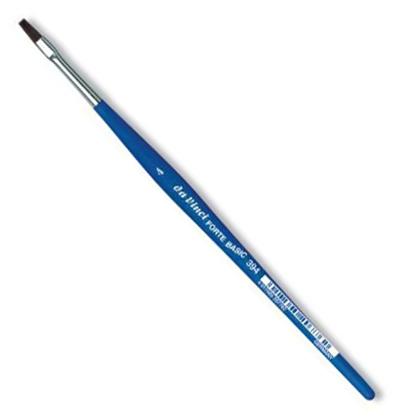 Купить Кисть синтетика №4 плоская Da Vinci 394 короткая ручка, Германия