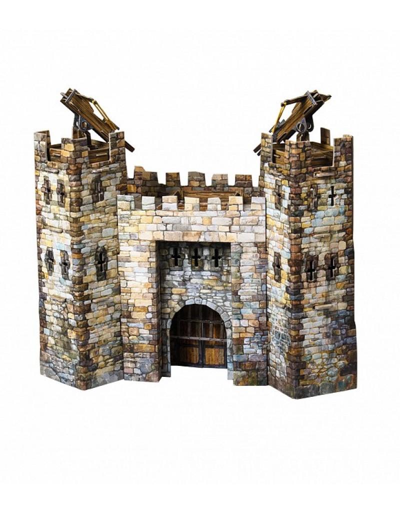 Купить Игровой набор из картона Средневековый город Главные ворота , Умная бумага, Россия