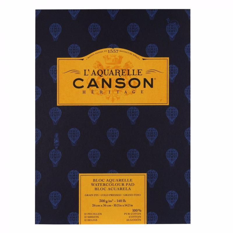 Купить Альбом-склейка для акварели Canson Heritage Fin 26x36 см 12 л 300 г, Франция