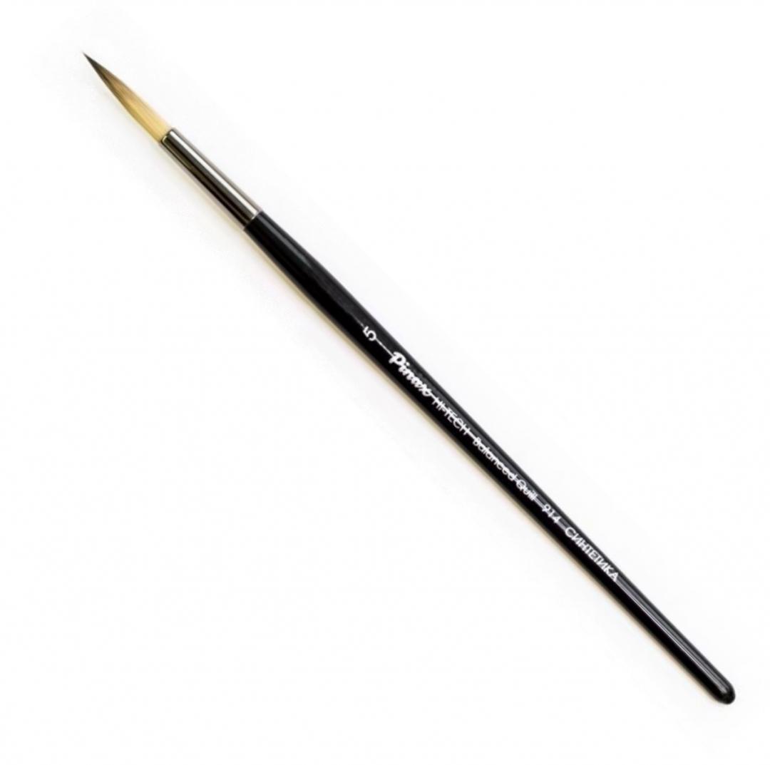 Купить Кисть синтетика №5 круглая Pinax HI-TECH Balanced Quilll 914 короткая ручка, Китай