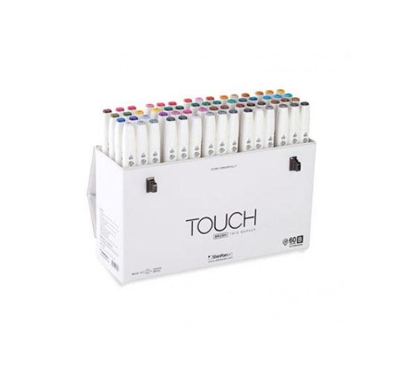 Купить Набор маркеров Touch Twin BRUSH 60 цв B, ShinHan Art (Touch), Южная Корея