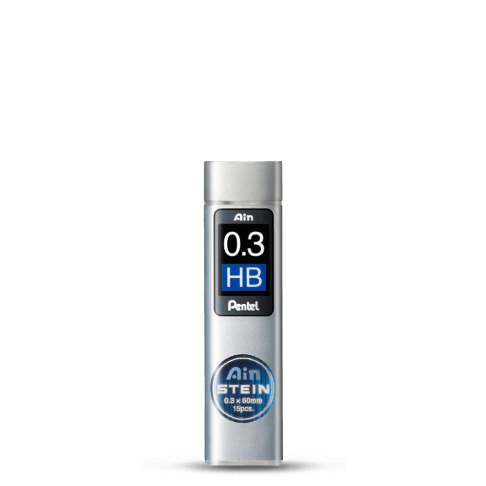Набор грифелей для механического карандаша Pentel Ain Stein 15 шт 0, 3 мм, HB, Япония  - купить со скидкой