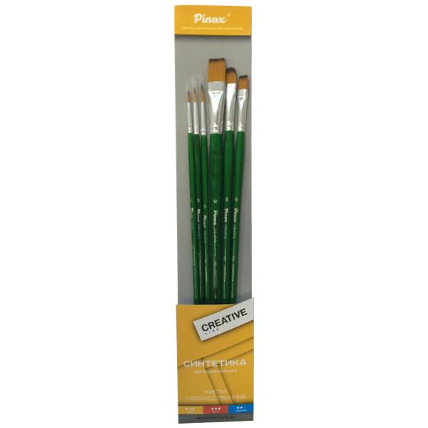 Купить Набор кистей Синтетика Pinax Creative Line 6 шт, ассорти, длинная ручка, Китай