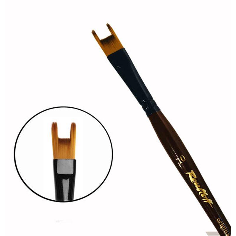 Купить Кисть синтетика №10 двузубец Roubloff 22RB короткая ручка, Россия