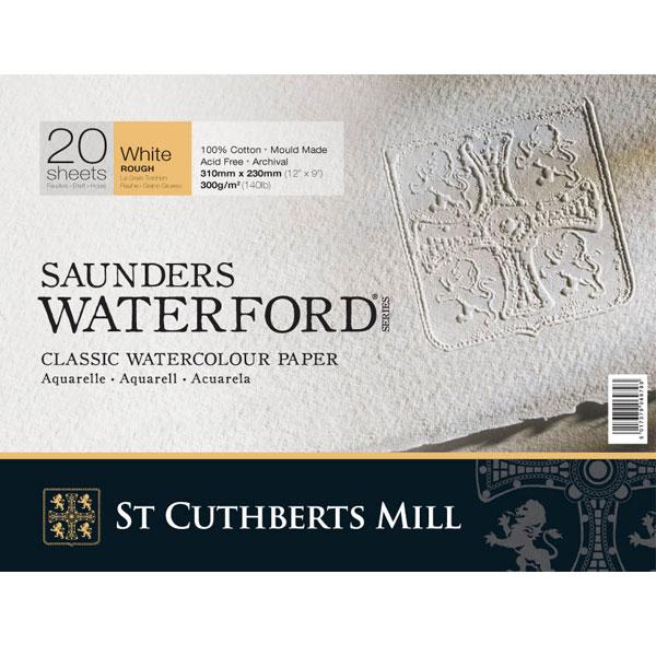 Купить Альбом-склейка для акварели Saunders Waterford Rough крупное зерно 31х23 см 20 л 300 г белый, St Cuthberts Mill, Великобритания